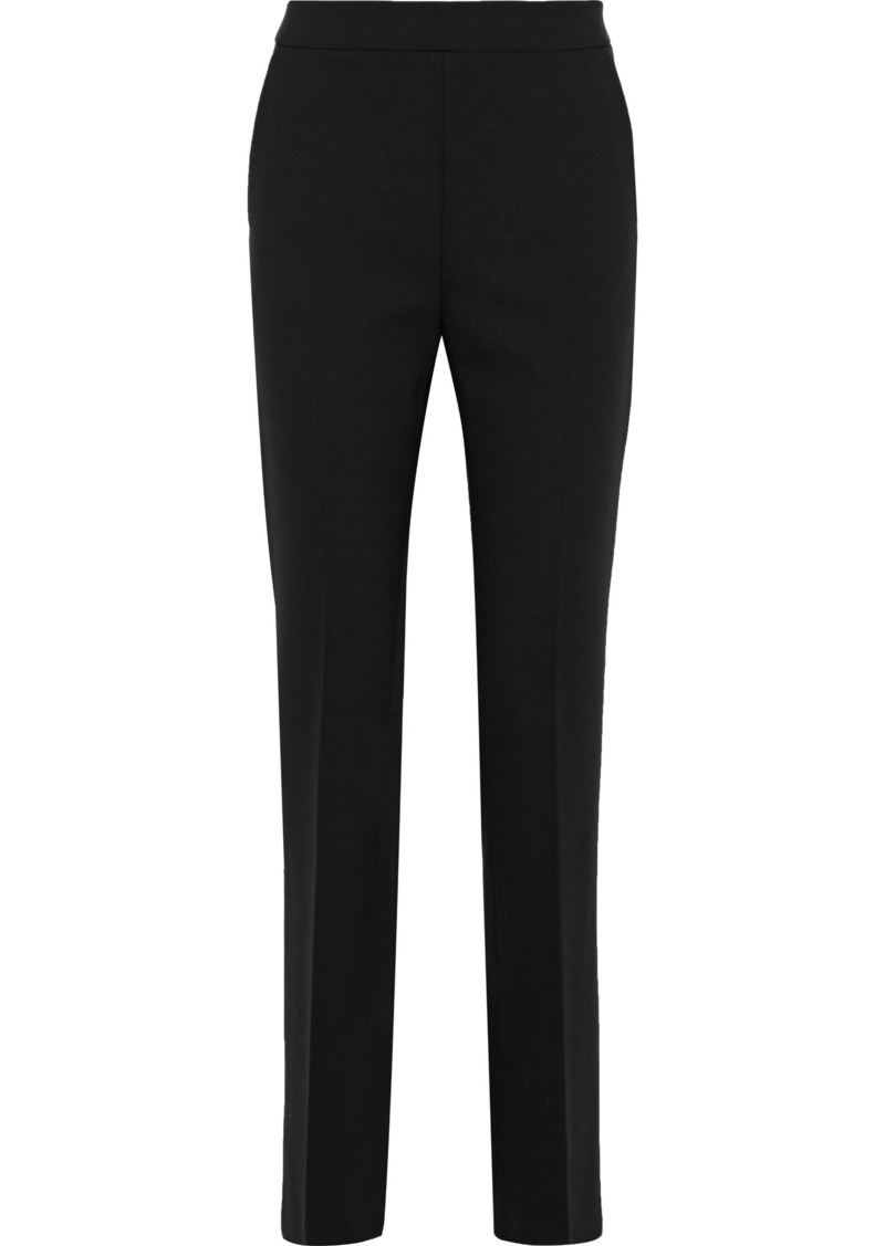 Max Mara Woman Stretch-wool Straight-leg Pants Black