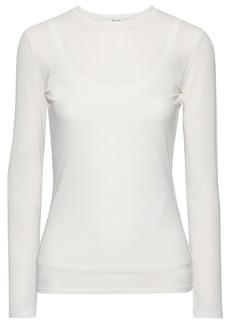 Max Mara Woman Tecla Stretch-jersey Top Ivory