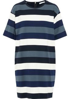 Max Mara Woman Tefrite Striped Stretch-knit Mini Dress Blue