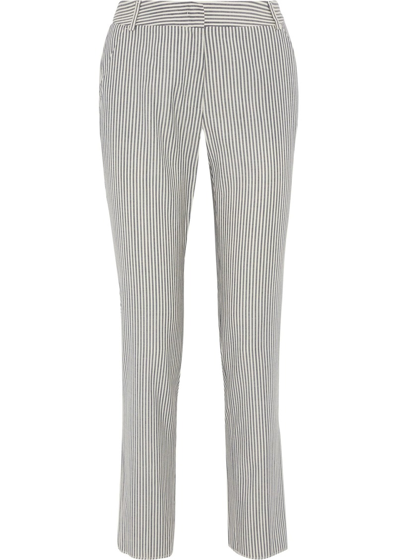 Max Mara Woman Terni Striped Wool-blend Straight-leg Pants Ivory