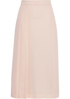 Max Mara Woman Tundra Pleated Cady Midi Skirt Blush