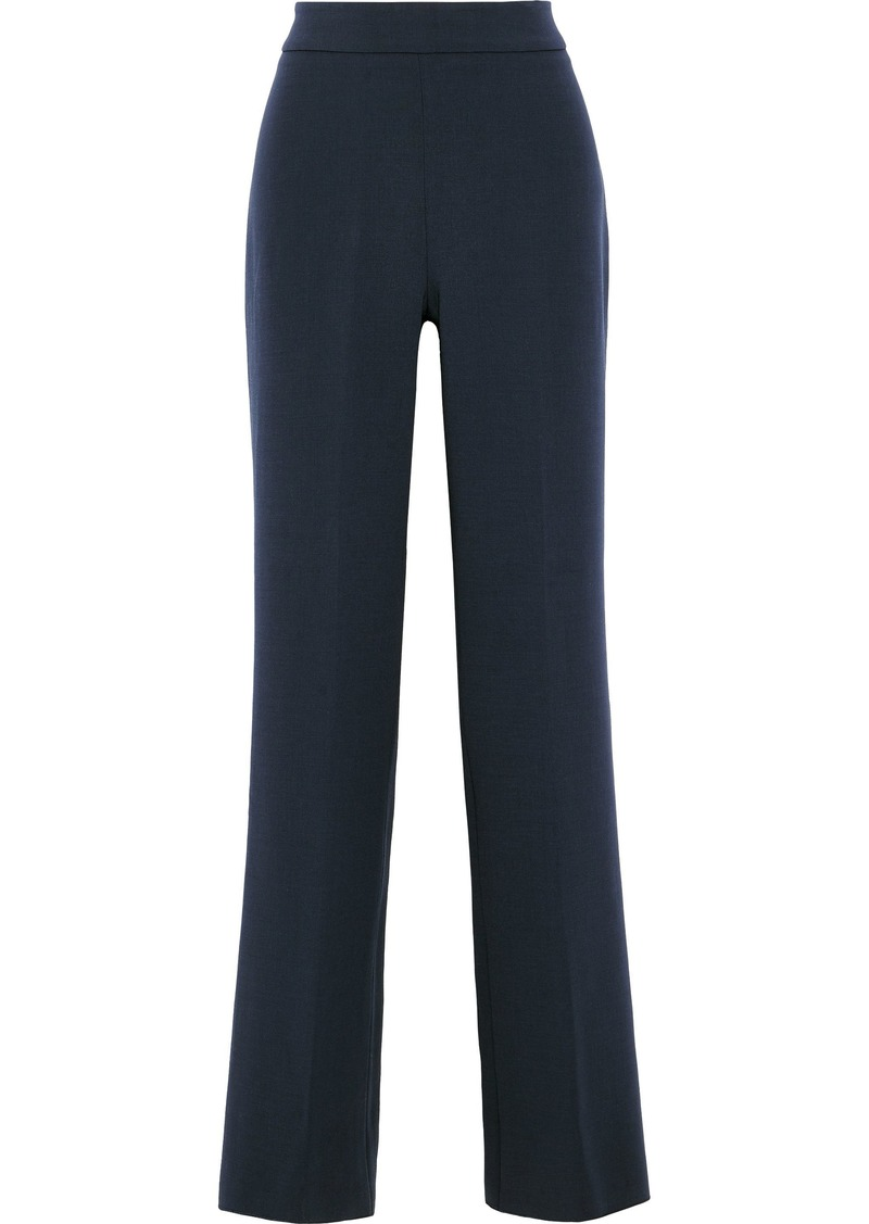Max Mara Woman Turku Stretch-wool Wide-leg Pants Navy