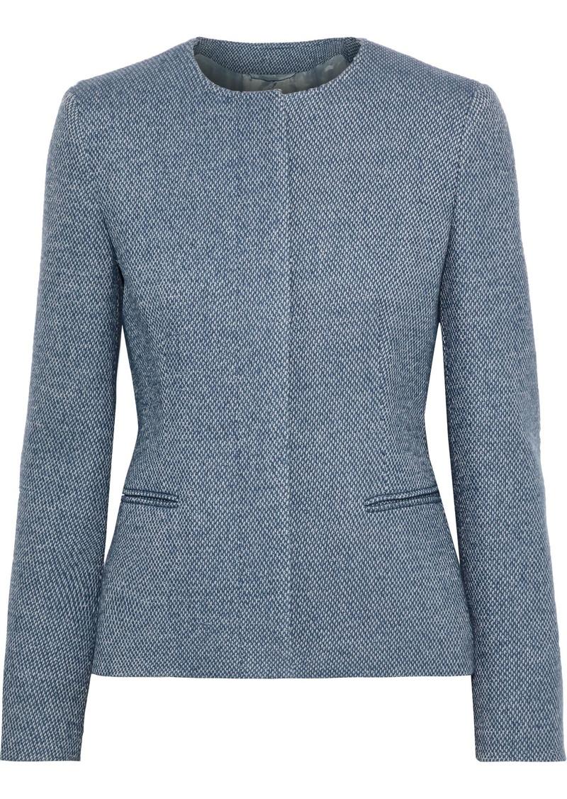 Max Mara Woman Uganda Wool And Cashmere Blend Jacket Light Blue