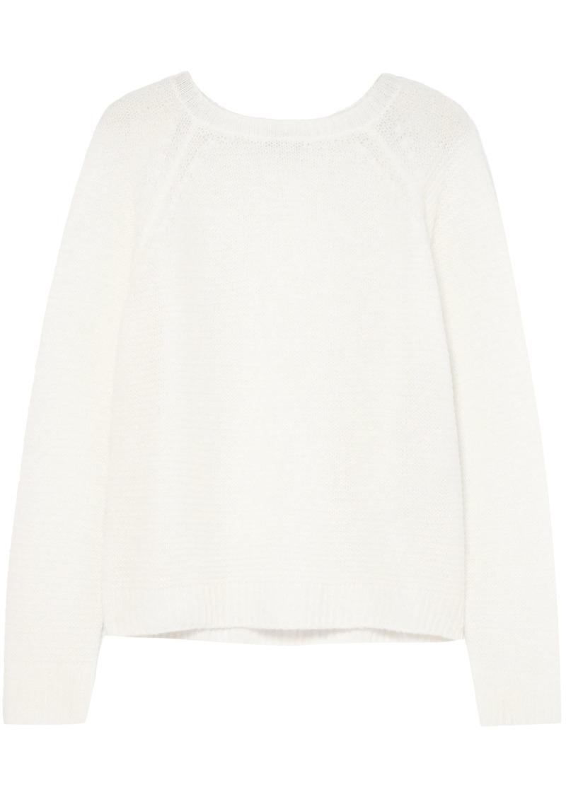 Max Mara Woman Urali Cashmere And Silk-blend Sweater Ivory