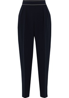 Max Mara Woman Vettura Cropped Cady Tapered Pants Midnight Blue