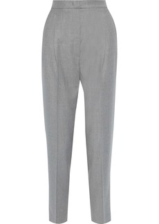 Max Mara Woman Visino Pleated Wool-twill Tapered Pants Gray