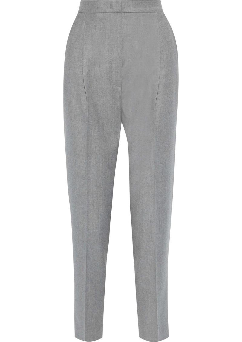 Max Mara Woman Pleated Wool Tapered Pants Gray