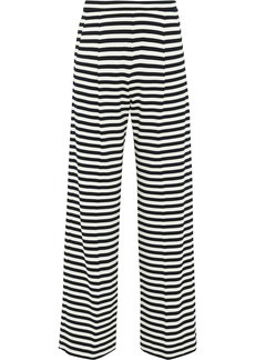 Max Mara Woman Vito Striped Stretch-jersey Wide-leg Pants Ivory