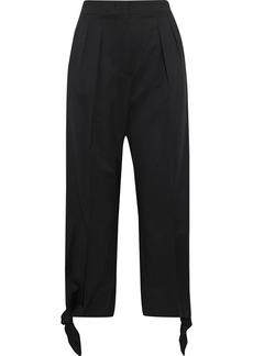 Max Mara Woman Voghera Cropped Knotted Wool-twill Straight-leg Pants Black