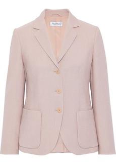 Max Mara Woman Wool And Silk-blend Blazer Baby Pink