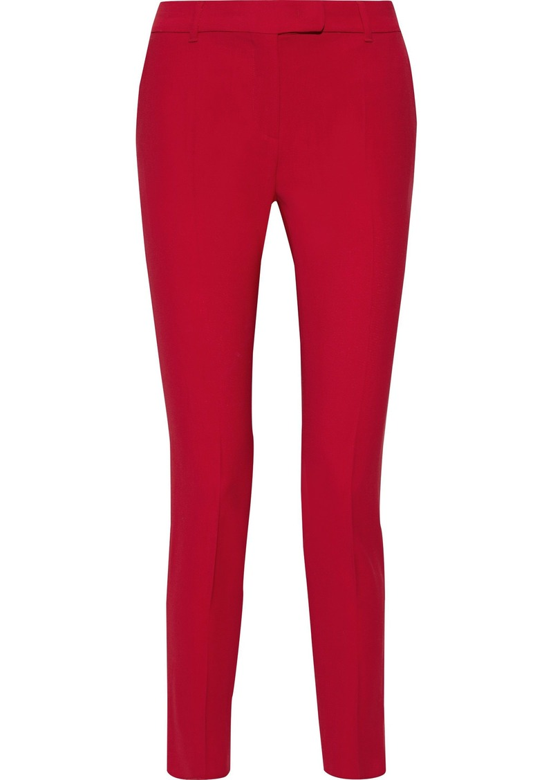 Max Mara Woman Wool-twill Slim-leg Pants Red