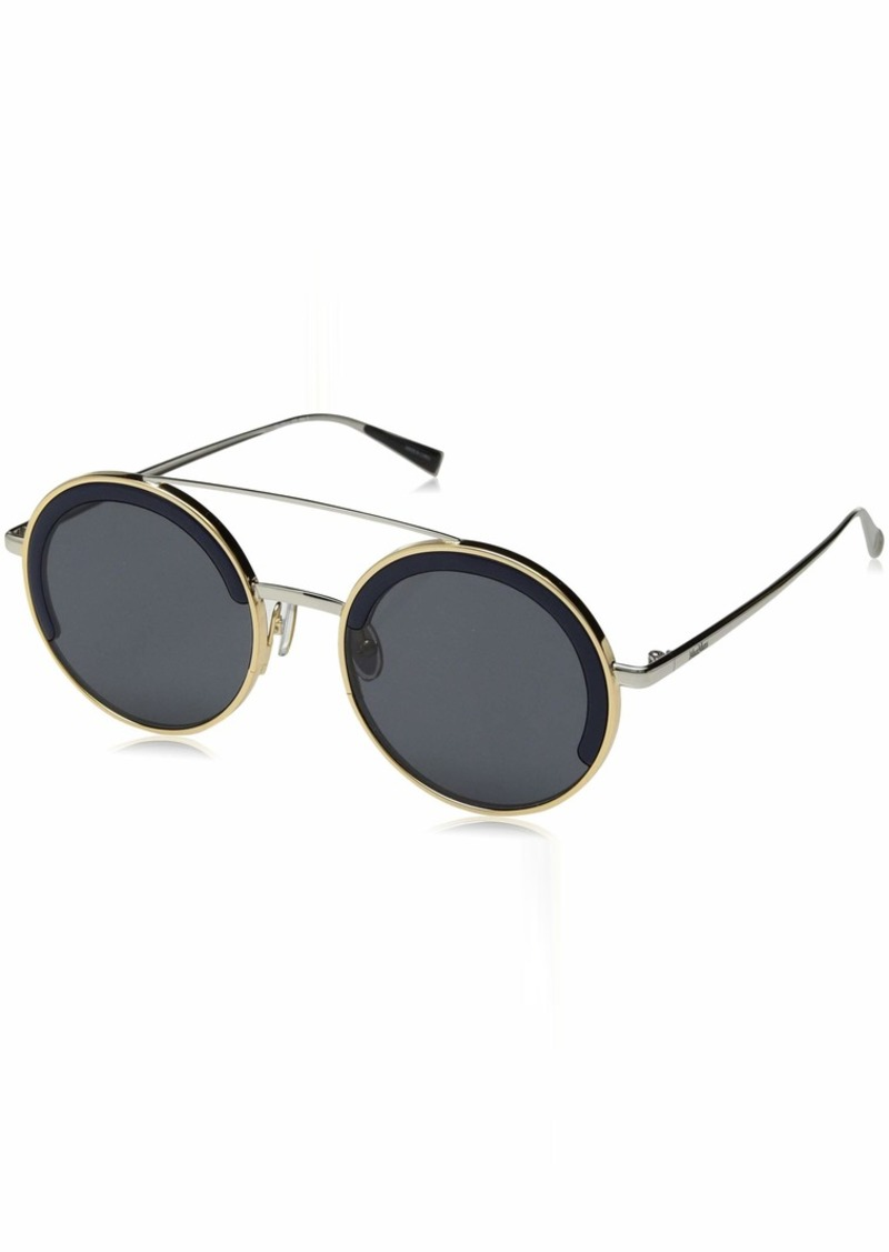 Max Mara Women's Mm Eileen I Round Sunglasses Grey & gold 51 mm