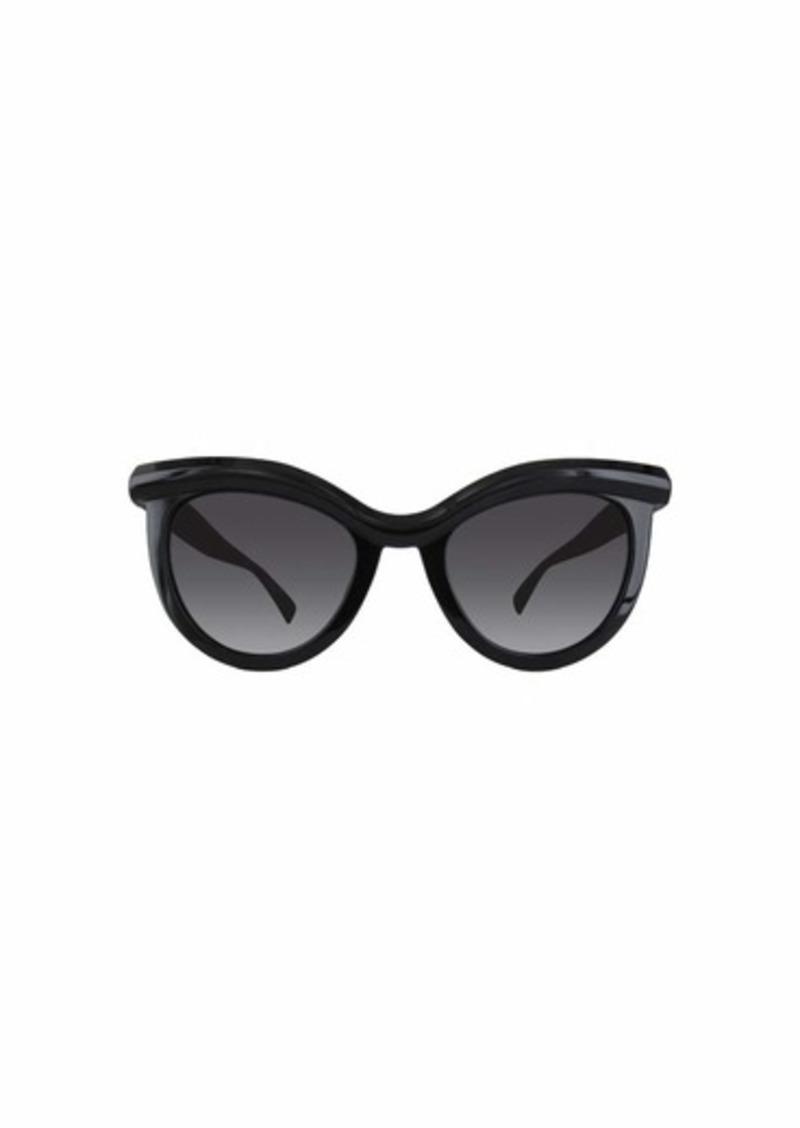 Max Mara Women's Mm Grace Polarized Rectangular Sunglasses BLACK 51 mm