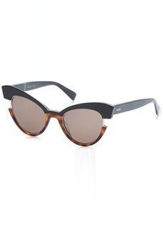 18a17cf6219 Max Mara Women s Mm Ingrid Cateye Sunglasses BLK HAVAN 49 mm