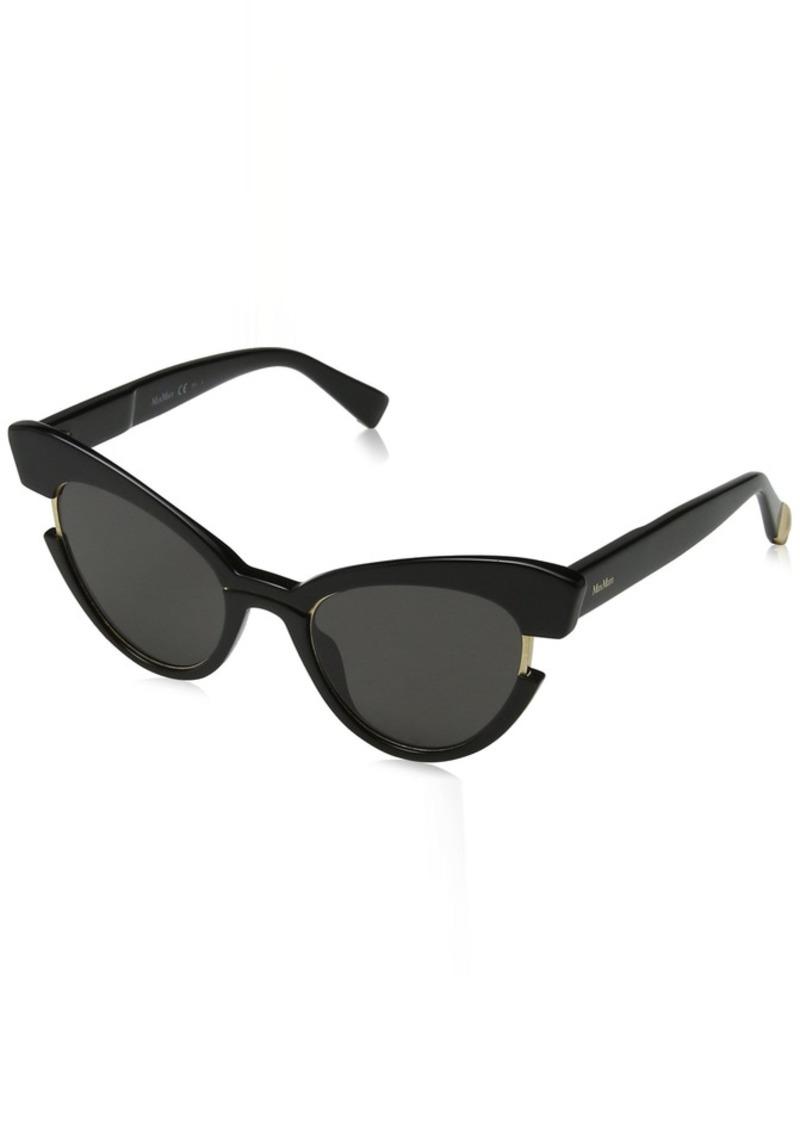 Max Mara Women's Mm Ingrid Polarized Cateye Sunglasses BLACK 49 mm