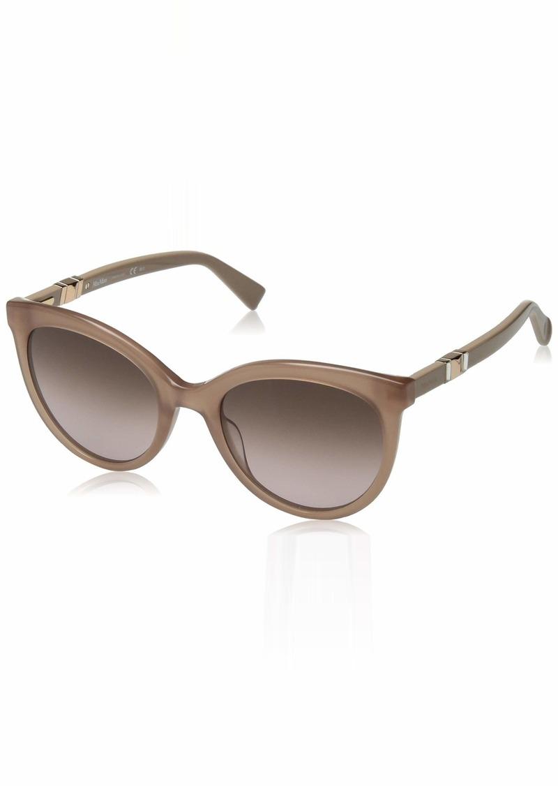 Max Mara Women's Mm Jewel Ii Oval Sunglasses NUDE