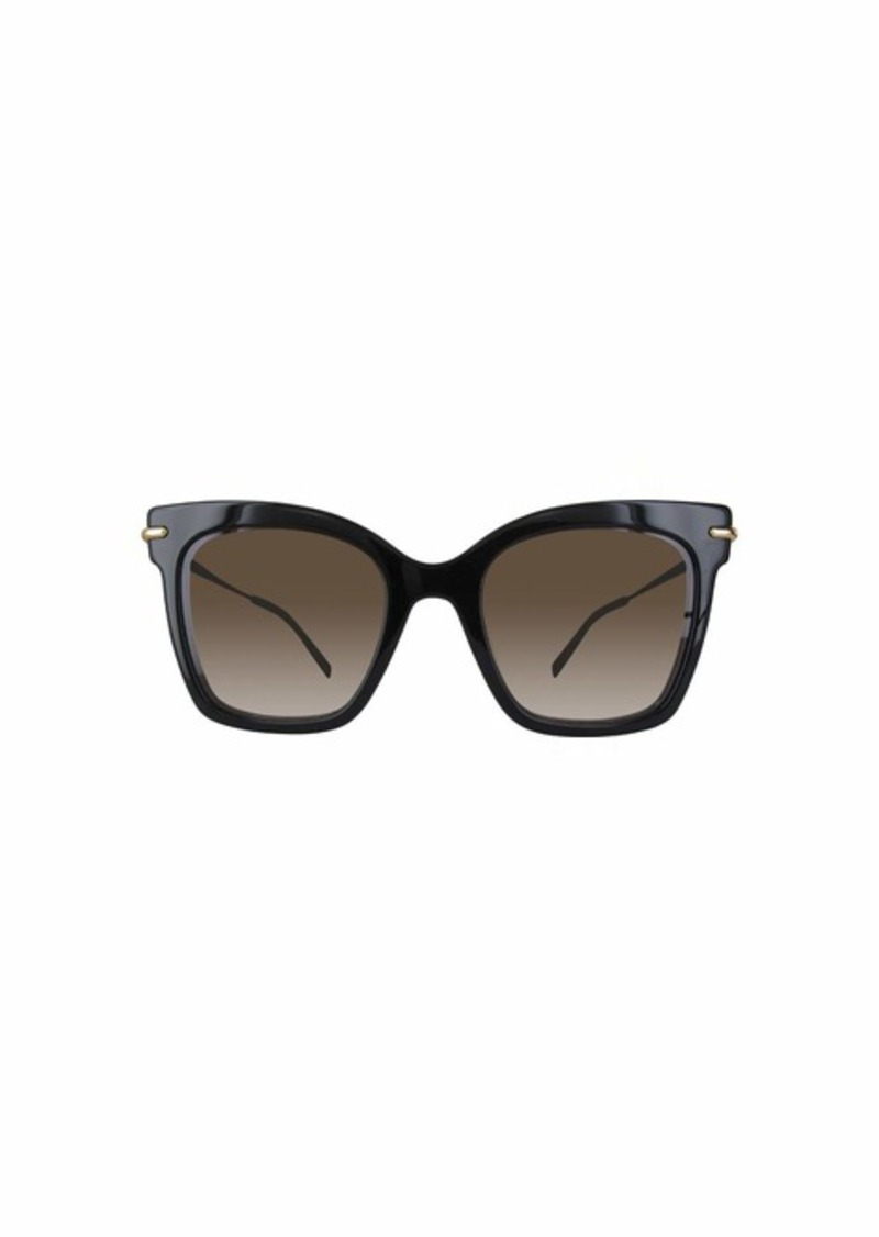 Max Mara Women's Mm Needle Iv Rectangular Sunglasses BLACK 49 mm