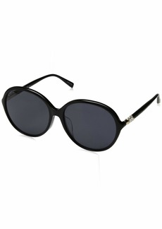 Max Mara Women's Mm Ring Fs Polarized Oval Sunglasses BLACK
