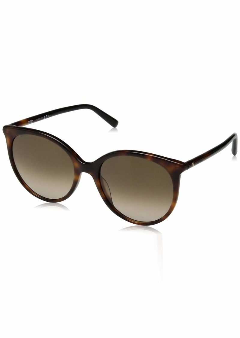 Max Mara Women's Mm Tube Ii Oval Sunglasses HAVN Blck