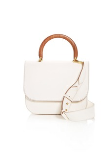 Max Mara Wooden Handle Leather Tote