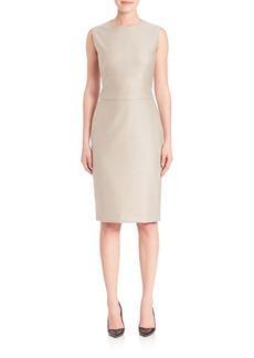 Max Mara Wool & Silk Sheath Dress
