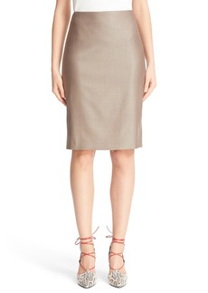 Max Mara Wool Blend Pencil Skirt