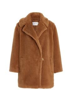 Max Mara Wool-Silk Short Teddy Coat