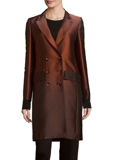Max Mara Woven Long-Sleeve Short Coat