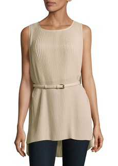 Max Mara Woven Pleated Top