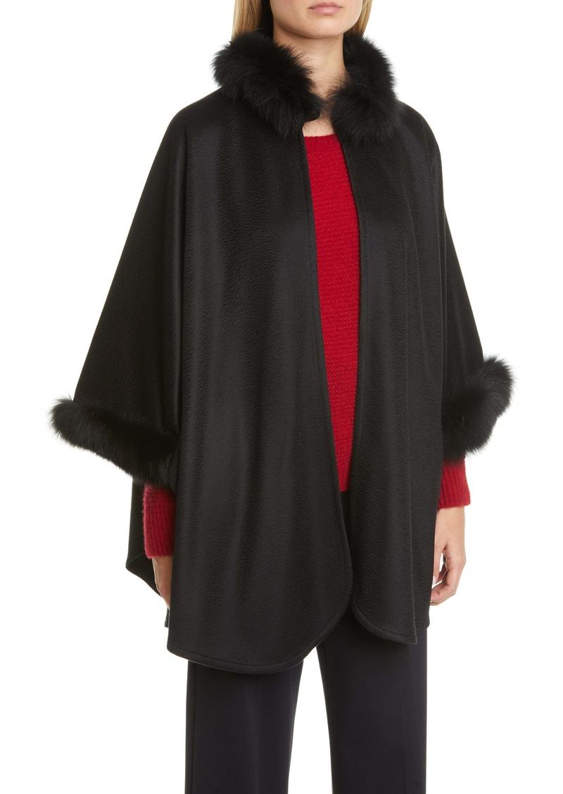 Max Mara Wssalto Cashmere Jacket with Genuine Fox Fur Trim
