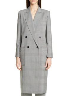 Max Mara Zarina Prince of Wales Wool Coat