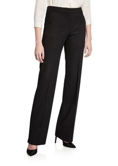 Max Mara Maxmara Camel Wool Wide-Leg Pants  Black