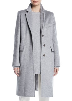 Max Mara Maxmara Furetto Button-Front Mid-Length Camel Hair Coat