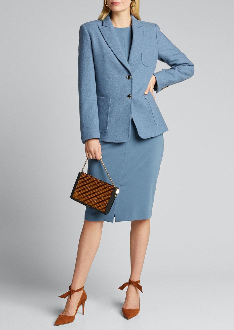 Max Mara Maxmara Liriche 3/4-Sleeve Wool Dress