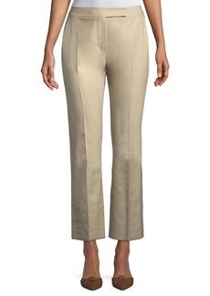 Max Mara Maxmara Mirto Straight-Leg Cropped Cotton Pants