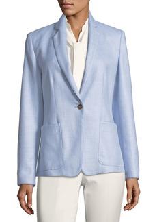 Max Mara Maxmara Notch-Collar One-Button Blazer