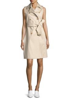 Max Mara Maxmara Sleeveless Belted Trench Dress
