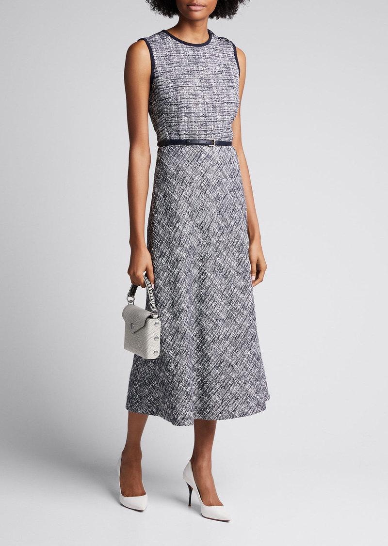 Max Mara Maxmara Spadino Sleeveless Tweed Dress