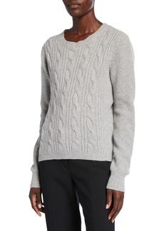 Max Mara Maxmara Termoli Cashmere Cable-Knit Sweater