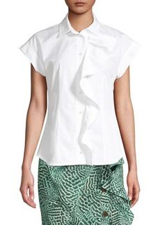 Max Mara Mimma Sleeveless Ruffle Shirt