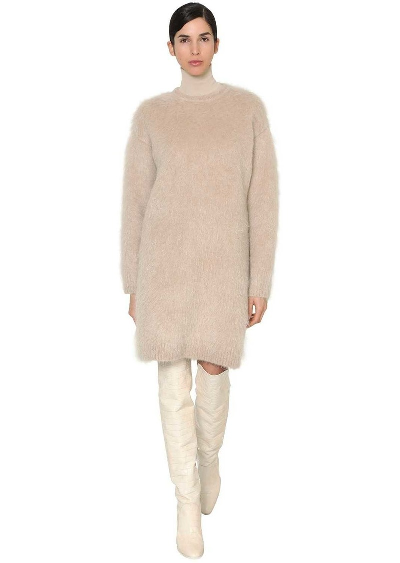 Max Mara Mohair & Wool Blend Knit Dress
