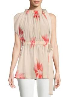 Max Mara Moretto Printed Silk Top
