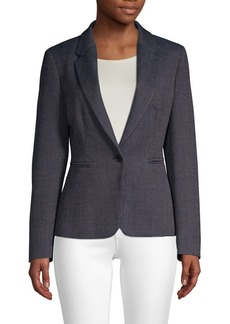 Max Mara Mosella Pindot One-Button Virgin Wool & Silk Jacket