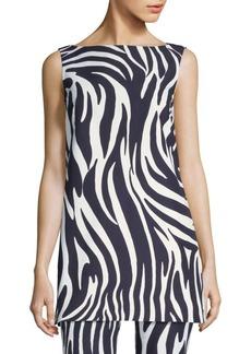 Max Mara Nasello Zebra-Print Top