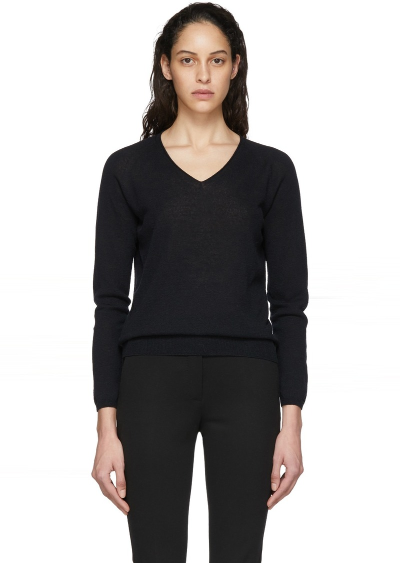 Max Mara Navy Vino V-Neck Sweater