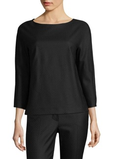 Max Mara Nectar Boatneck Dot Top
