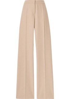 Max Mara Obbia Camel Hair And Cashmere-blend Straight-leg Pants