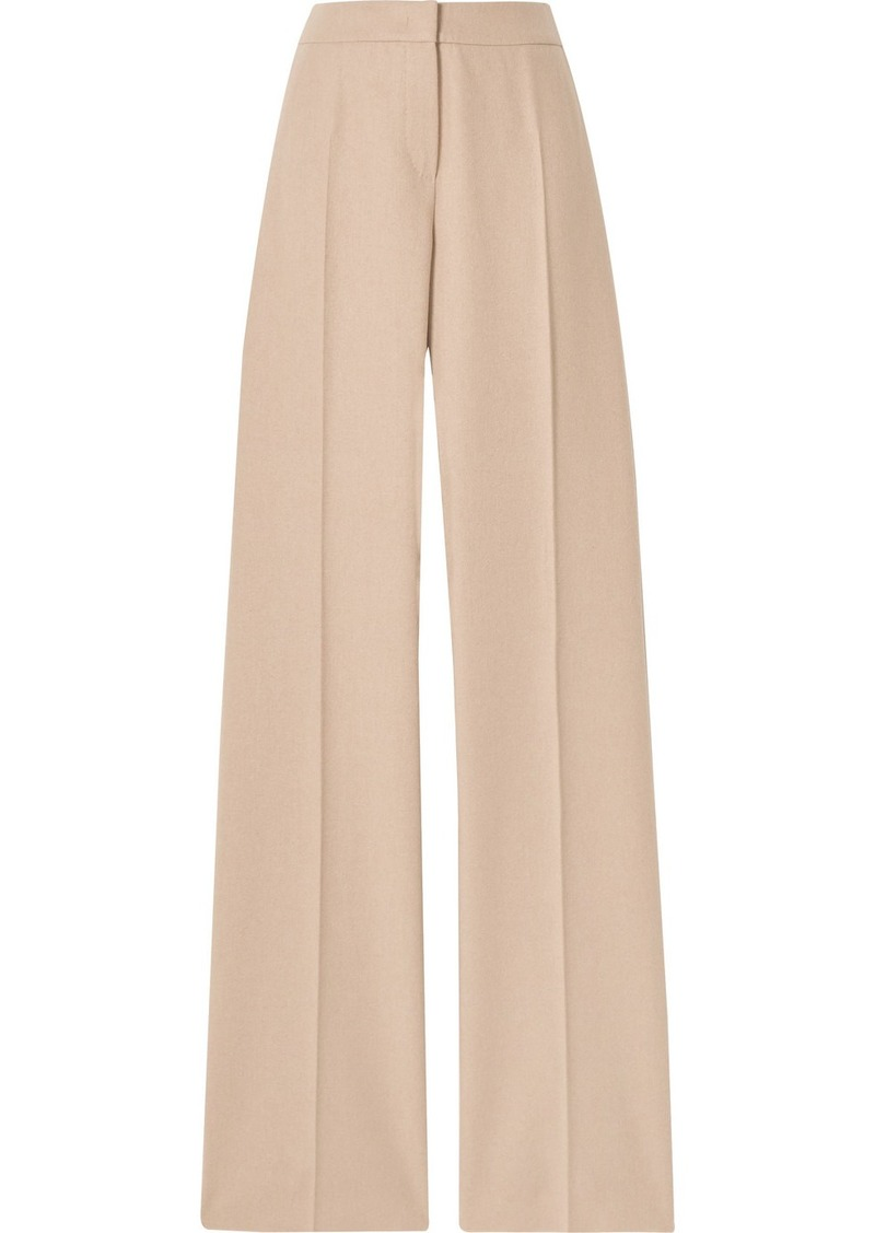 Max Mara Obbia Camel Hair And Cashmere-blend Straight-leg Pants