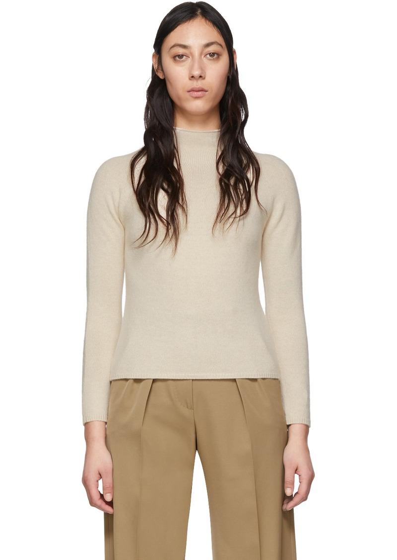 Max Mara Off-White Cashmere Kapok Sweater