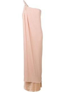 Max Mara one-shoulder textured gown